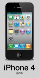 iPhone 4 Vector .PSD by Jake-Moore
