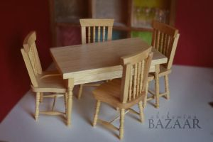 Craft Store Find - Miniature Table Set by TheMiniatureBazaar