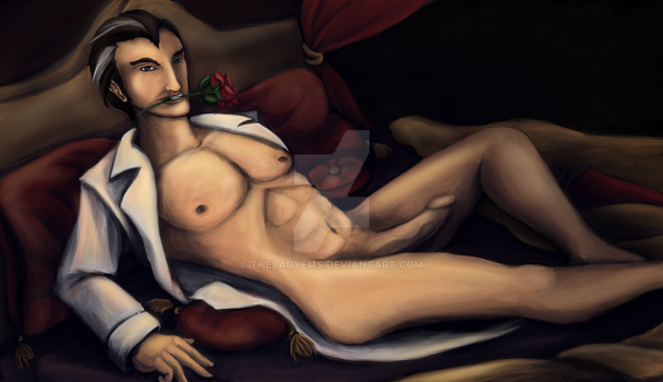 RP Commish: Jayce Pin-Up by theladyems