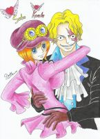 One Piece - Sabo and Koala by Michael1525