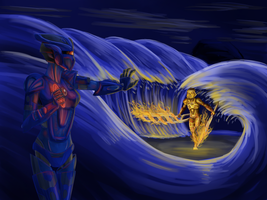 Tuyet Vs. Lhikan by Saronicle