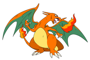 Charizard fire by gobixhoukou