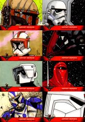 C6 501st sketch cards by ragelion