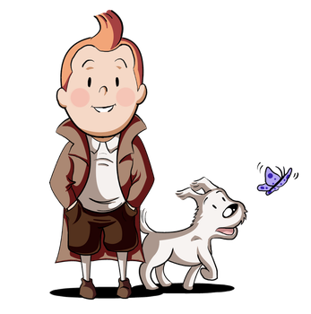 :: Collab: Tintin and Snowy :: by TheBealeCiphers