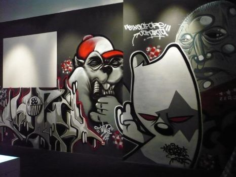 Black Urban Art by thekillergerbil