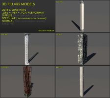 Free Pillars 02 by Yughues
