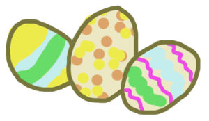 Terribly Drawn Easter Eggs by ClarityAdoptables