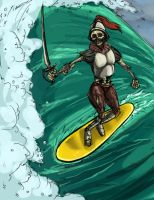 The Surfing Undead by AmazingTrout