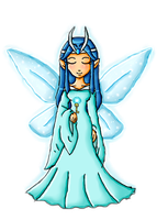 Zelda collab-Great Fairy of Ice by ninpeachlover