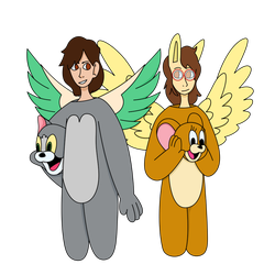 Transfurence (Tom and Jerry costumes) by TheFerbguy