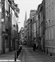 A street of Caen by UdoChristmann