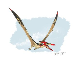 Fly Fisherman (Pteranodon)(Classic) by BlueCea