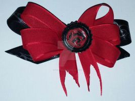 Superboy Hair Bow by wolf-girl87