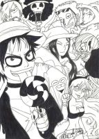This is Halloween B and W by UchaNekome