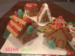 Miniature Gingerbread Village Houses by AliDee33