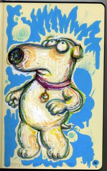 Family Guy Brian Griffin Off Model Print by jeaux