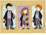 Harry Hermione Ron by beckadoodles