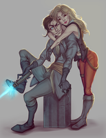 Rayken and Zlana by spectr00m