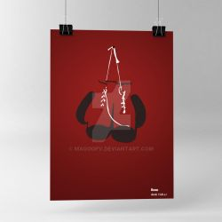 Poster Boxe Minimalism by MagooPV