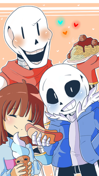 A Skele - Ton of Food :) by shallowdeepcreation