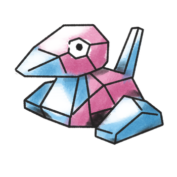 water colour porygon by Gexeys