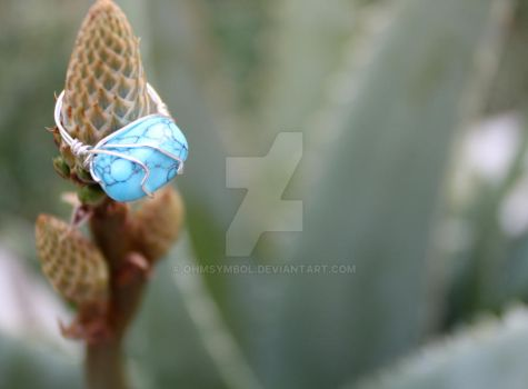 Hand-made Turquoise Ring by OhmSymbol