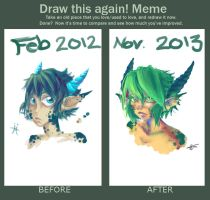 Meme  Before And After: Sasha by Meaghz
