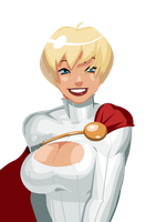 A Power Girl Bust by morganagod