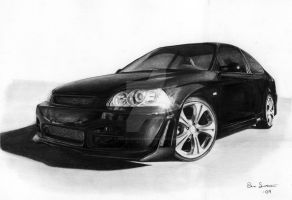 Honda Civic drawing by Per-Svanstrom