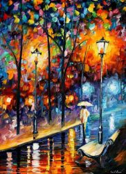 Warm Winter by Leonid Afremov by Leonidafremov