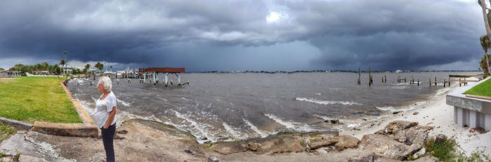St Lucie River Storm by ecfield