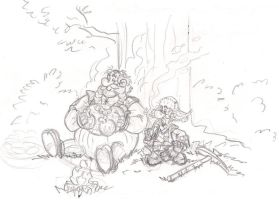 Crossover Asterix and Obelix / The Hobbit by zoccu