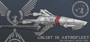 Union Astrofleet Type-II Scout Destroyer by firestrike2