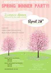 eaa spring dinner party flyer by andimstupid on deviantart