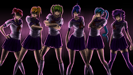Yandere Simulator - The Rainbow Six by YorieOfTheCastle