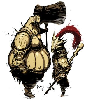 Ornstein and Smough Sketch by semsei