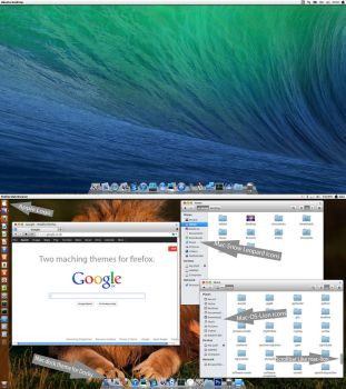 Mac-OS-X V5 theme pack for Ubuntu 13.10 by MBOSSG