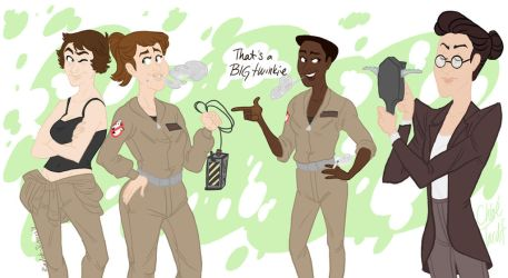 The Ghostbusters by radish-slippers