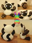 Oishii the Cat Plushie Version 2 by louisalulu