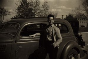 Man with Old Car by eviln8