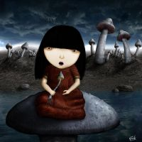 Candice in Mushroomland by Spjuver
