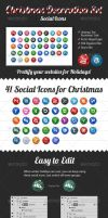 Christmas Decoration Set - Social Icons by xximsohappy