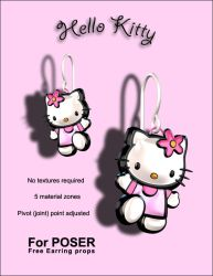 Hello Kitty Earring props by inception8-Resource