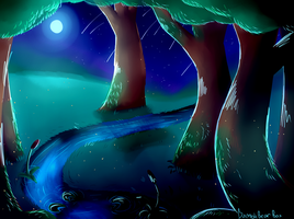 Midnight Forest by BumbleBearBox