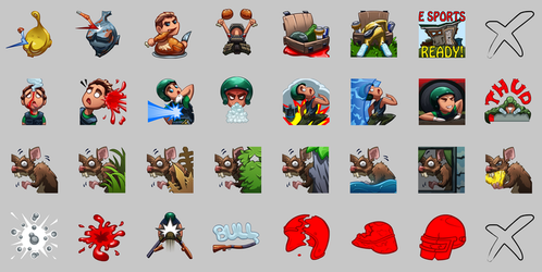 PUBG TWITCH EMOTES - FINISHED! by drbjrart