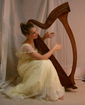 YellowLadyHarp3 by Nekoha-stock