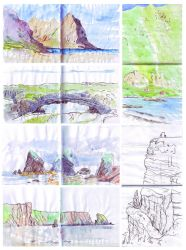 Norway Ireland sketches by 3001