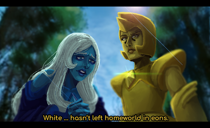 Blue and Yellow Diamond - Legs from here to Homewo by miguel-amshelo