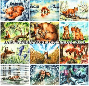 Jasu Wonder World Calendar 2018 by Yasuli