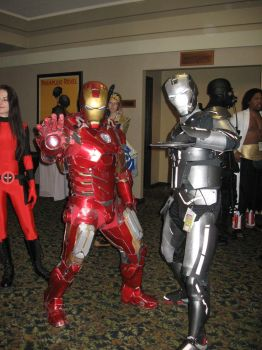 Iron Man and War Machine by Leap207